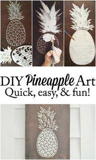 DIY Pineapple art -