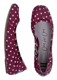 TOMS Red Polka Dot B