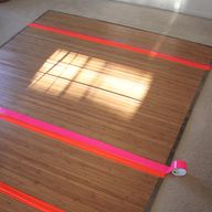 Neon duct tape floor