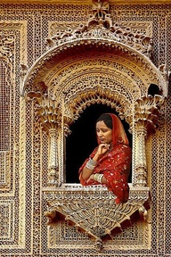 Indian lady looking