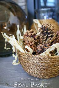 DIY Sisal Basket on