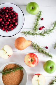 apples, cranberries,