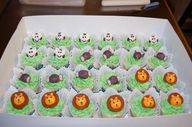 Zoo-themed cupcakes