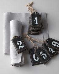 wooden number tags