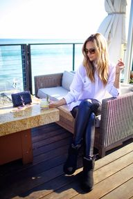 leather pants + whit