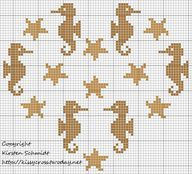 Cross-stitch Seahors