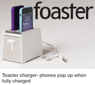Toaster phone charge