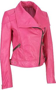 Hot Pink Leather Jac