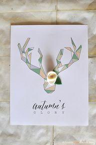 Geometric Deer Antle