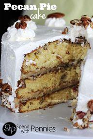 Pecan Pie Cake!  3 L