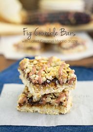 Fig Crumble Bars on