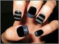 gray, black, glitter