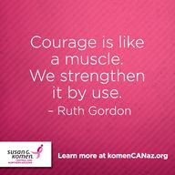 Courage is like musc