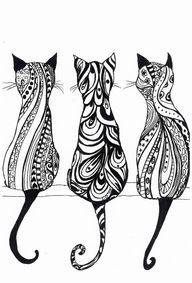 A4 Monochrome cat pr