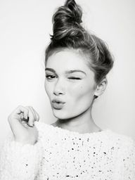 messy side bun #hair
