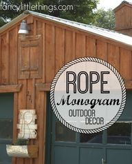 Rope Monogram...outd