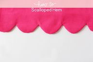 Scalloped hem tutori
