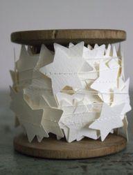 etoiles en papier bl