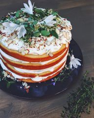 Almond Layer Cake wi