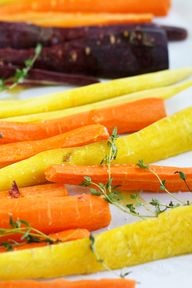 Rainbow carrots, ora