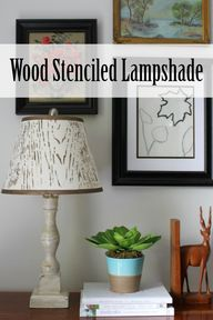 Wood Stenciled Lamps