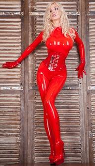 Sexy girl in latex c