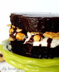 Smores Chocolate cak