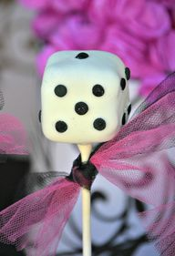 Dice cake pops at a