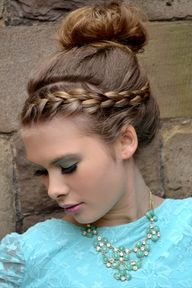 #updo with #braid #h