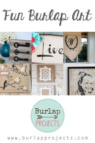 Fun Burlap Art DIY P