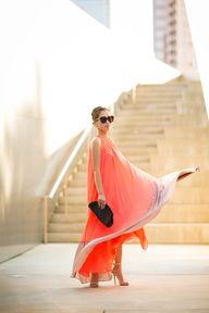 Coral Maxi Dress | V