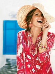 Great Escape #patterned #tunic #chicos #embellished #beach #coverup #vaca #vacation #outfits (via @Love Chico's www.chicos.com)
