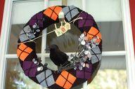 halloween wreath - A