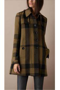 Burberry plaid coat
