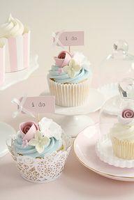 Pastel Wedding Cupca