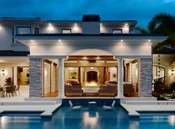 Florida pool area by