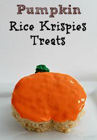 Pumpkin Rice Krispie
