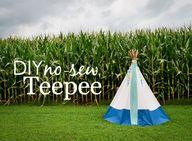 DIY No-Sew Teepee -