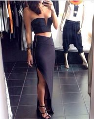 Two Piece Cropped Bo