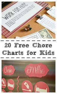 20 Free Chore Charts