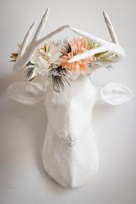 put a flower crown o