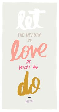 let the beauty we lo