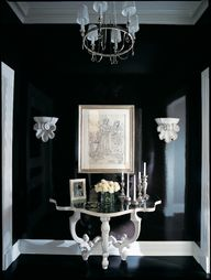 Black walls in foyer