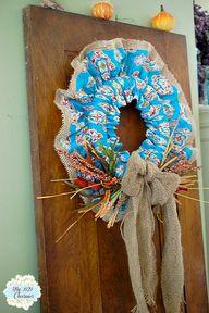 Fall Fabric Wreath,