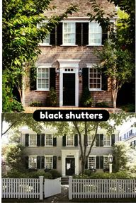 Black shutters look