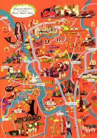 Fun pictorial map ov
