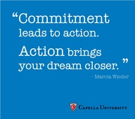"""""""Commitment leads to action. Action brings your dream closer."""" - Marcia Wieder #quote #inspiration #motivation"""