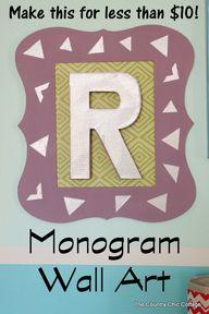 Monogram Wall Art (l