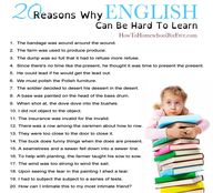 20 Reasons English C