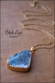 Gold Druzy Necklace,